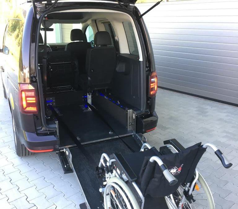 Heckeinsteiger / VW Caddy kurz mit ebenem Boden