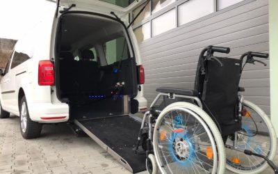"""VW Caddy Maxi und VW Caddy mit kurzem Radstand, der """"ideale Rollstuhltransport mit ebenem Boden """""""